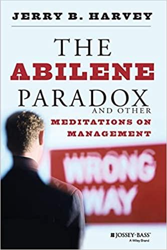 Abilene Paradox Book Cover